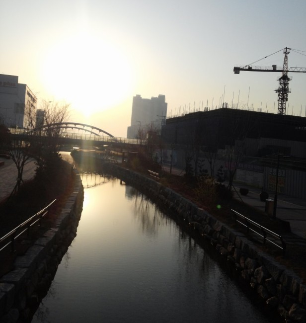 Cheongna Canal Park Incheon sunset