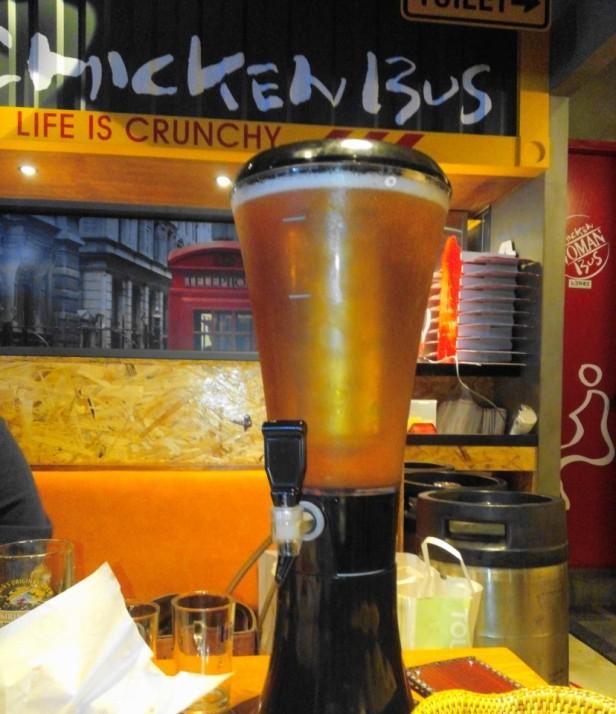 Chicken Bus Cheongna Incheon Table Beer