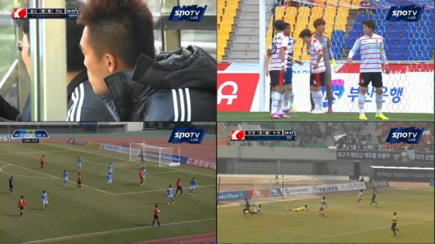 KLeague Classic and Challenge Picture in Picture Naver. Anyang scoring in the bottom right.
