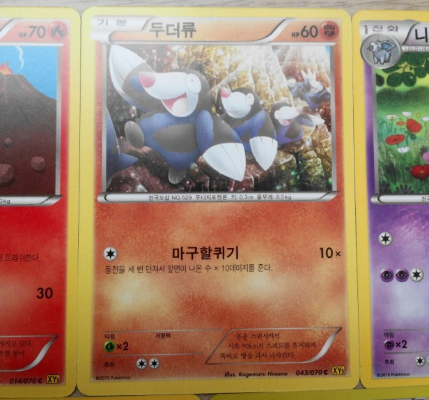 Korean Pokemon Cards XY drilbur