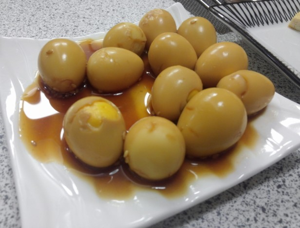 Korean Quails Eggs in Soy Sauce completed