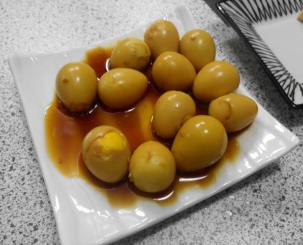 Korean Quails Eggs in Soy Sauce side dish