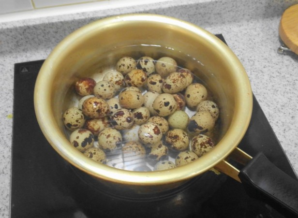 Korean Quails Eggs in Soy Sauce