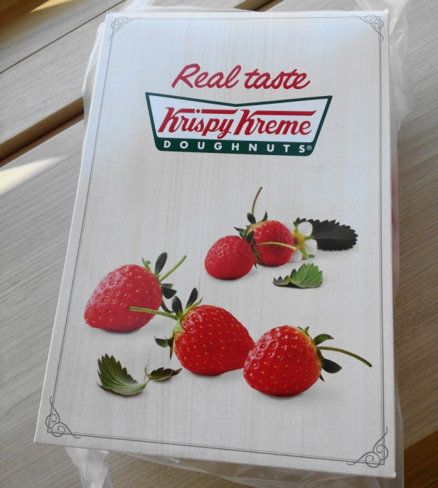 Krispy Kreme Korea Real Strawberry box