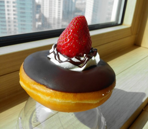 Krispy Kreme Korea Strawberry Chocolate Cream