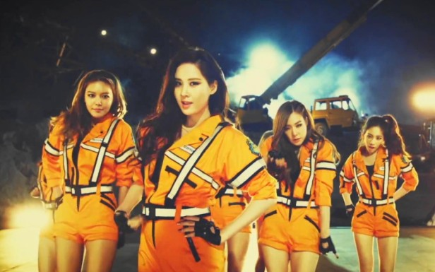 Girls Generation Catch Me If You Can - Orange Jumpsuits
