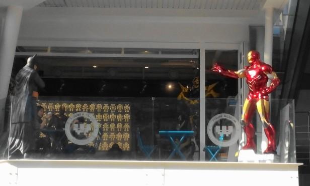 Ironman Batman Spotted outside a Gangnam Cafe Seoul