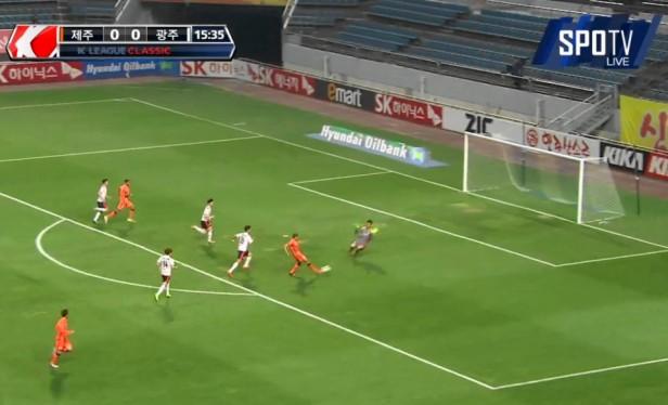 Jeju United Goal vs. Gwangju Apr 2015