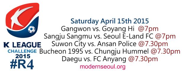 K League Challenge 2015 Round 4 April 15th