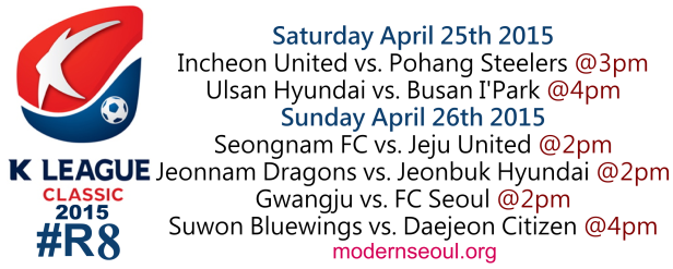 K League Classic 2015 Round 8 April 25th 26th