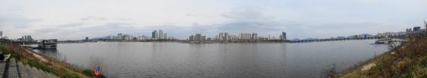 Panoramic Han River Seoul 2015