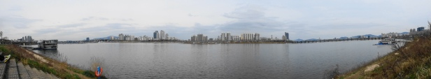 Panoramic Han River Seoul 2015