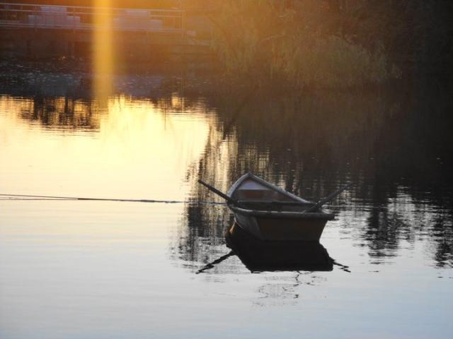Boat on a Lake Korean Folk Village Yongin