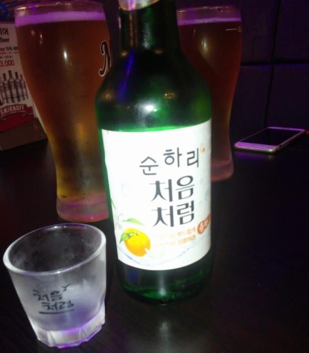 Citron Flavored Soju 2015 in Cheongna Incheon