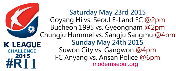 K League Challenge 2015 Round 10 May 23rd 24th