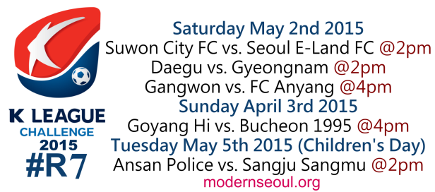 K League Challenge 2015 Round 7 May 2nd 3rd