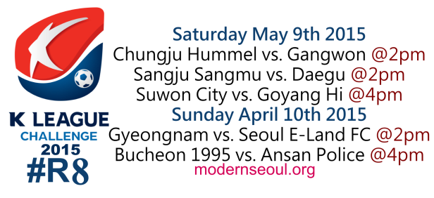 K League Challenge 2015 Round 8 May 9th 10th