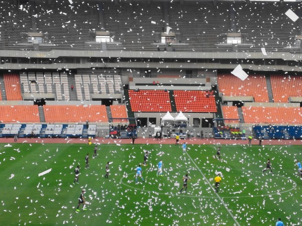 Seoul E-Land vs. Daegu FC K League confetti