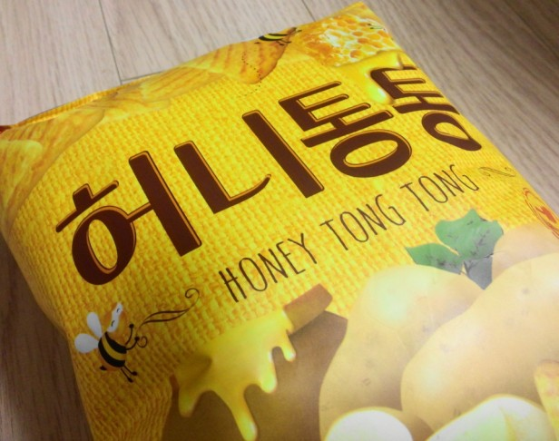 Honey Butter Tong Korean Snack Front