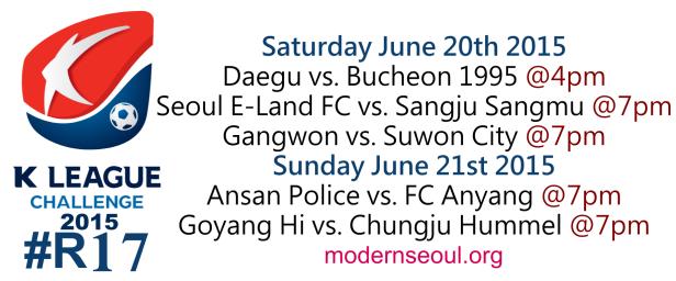 K League Challenge 2015 Round 17 June 20th 21st