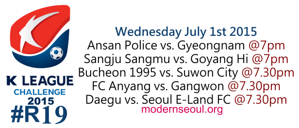 K League Challenge 2015 Round 19 July 1st