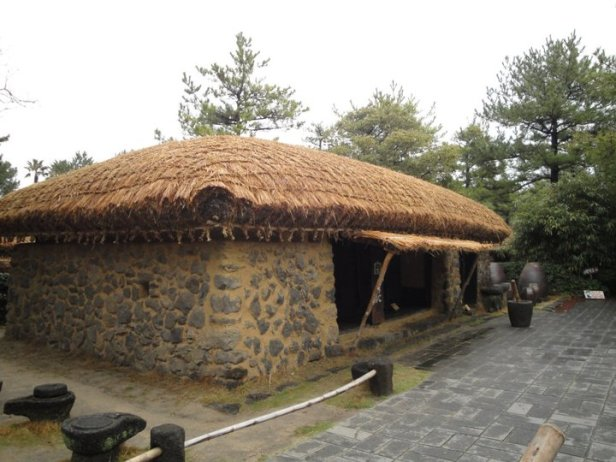 Traditional Korean Farmhouse Hallim Park Jeju Island