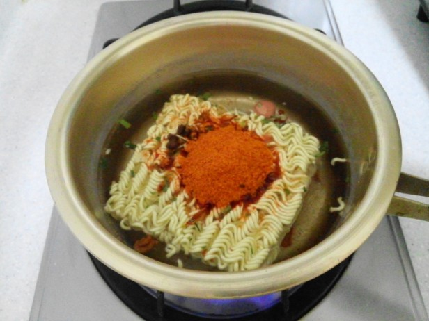 Budaejjigae Noodles before