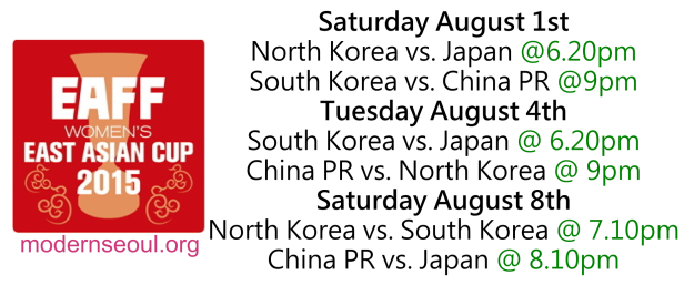 EAFF Women's 2015 East Asian Cup Fixtures