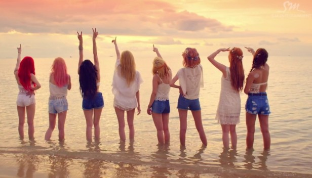 Girls Generation Party 2015 group sunset