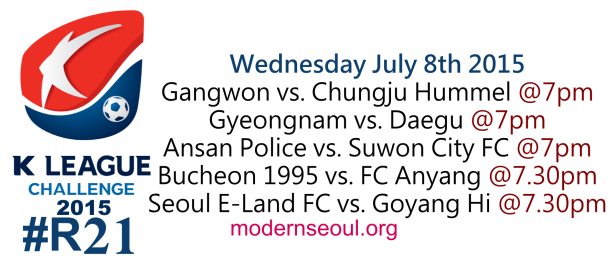 K League Challenge 2015 Round 21 July 8th