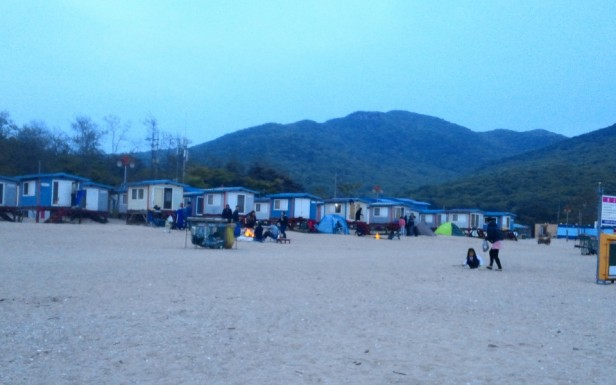 Muuido Island Incheon Hanagae Beach Huts Dusk
