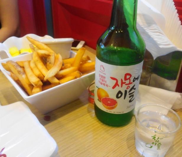 94Street Chicken Beer South Korea soju french fries