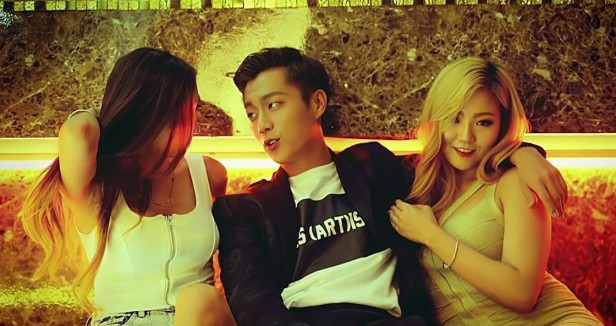 Beast YeY with girls