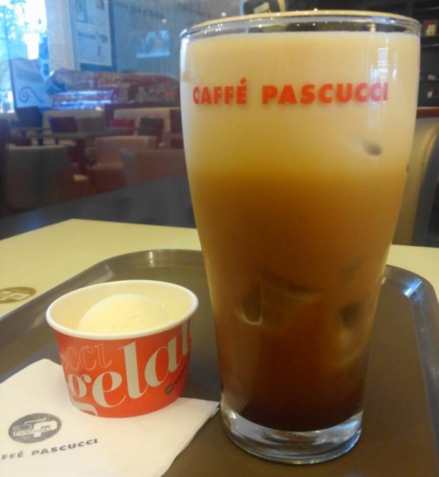 Caffe Pascucci Shakerato Coffee with ice cream