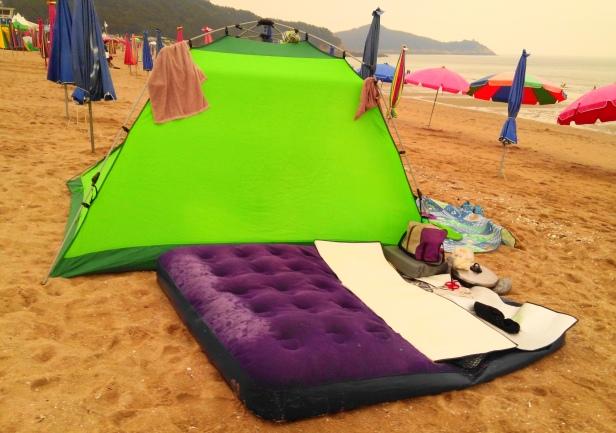 Camping on the Beach Incheon South Korea