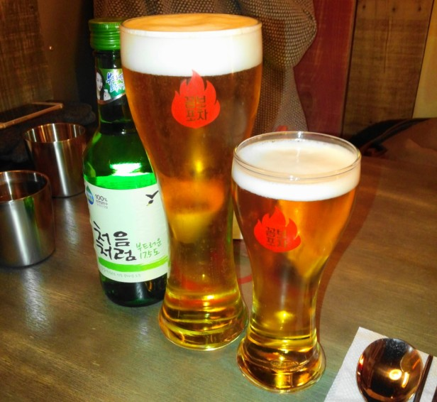 Combo Pocha Restaurant beer soju