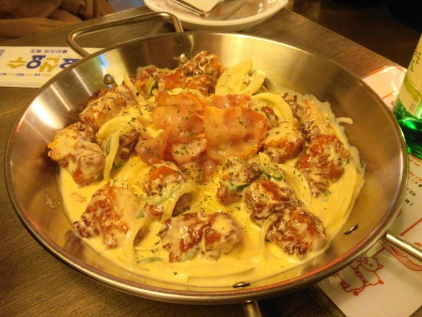 Combo Pocha Restaurant chicken cheese sauce