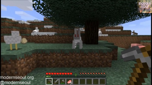 Modern Seoul vs. The Wild Minecraft White Rabbit