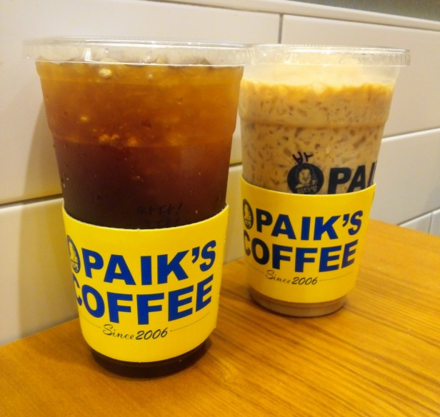 Paik's Coffee Korea Americano Latte