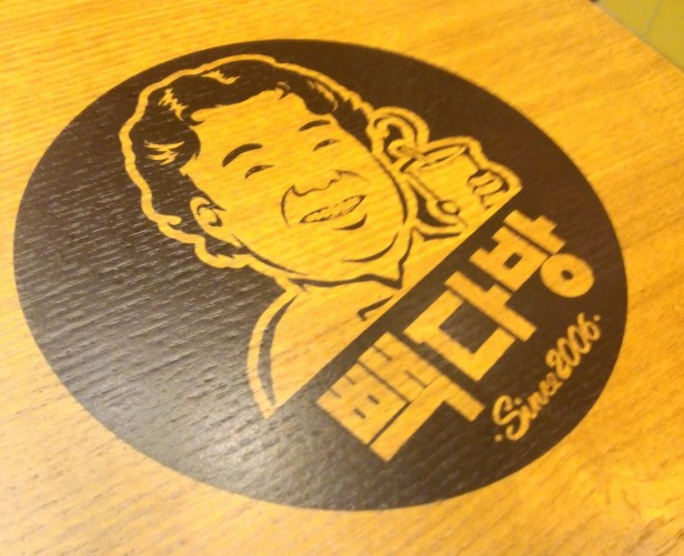 Paik's Coffee Korea Cartoon Logo