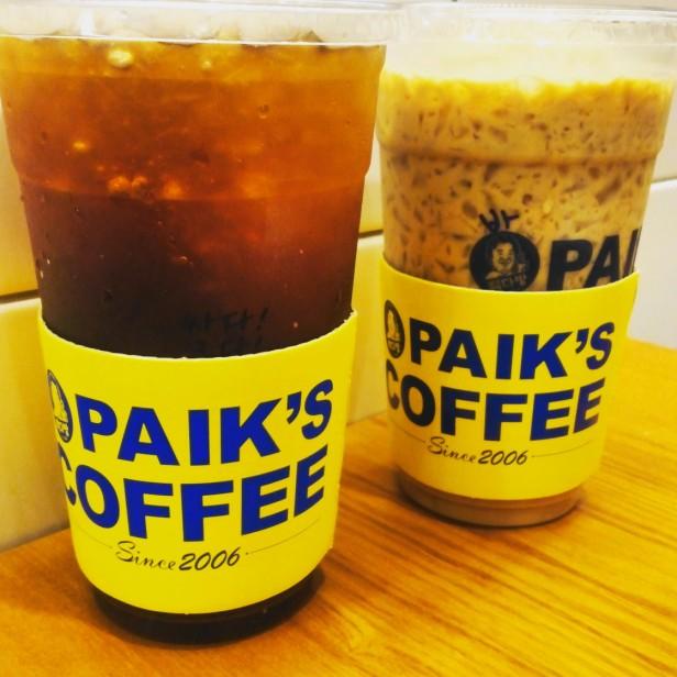 Paik's Coffee Korea Instagram