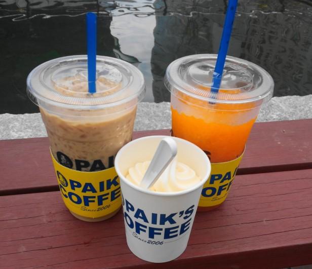 Paik's Coffee Korea Set by Cheongna Canal Way