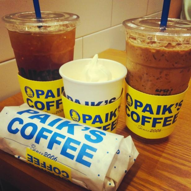 Paik's Coffee Korea Set