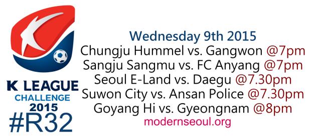 K League Challenge 2015 Round 32 September 9