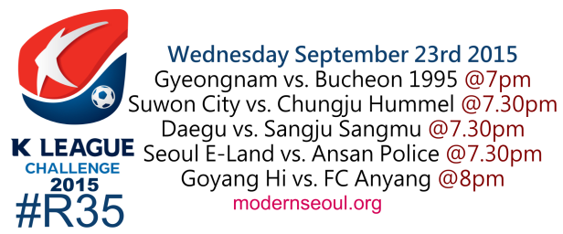 K League Challenge 2015 Round 35 September 23