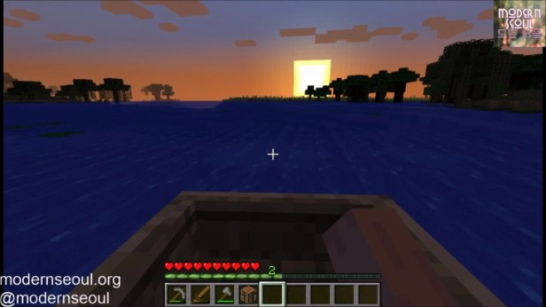Sunset - Minecraft vs. The Wild Day 3