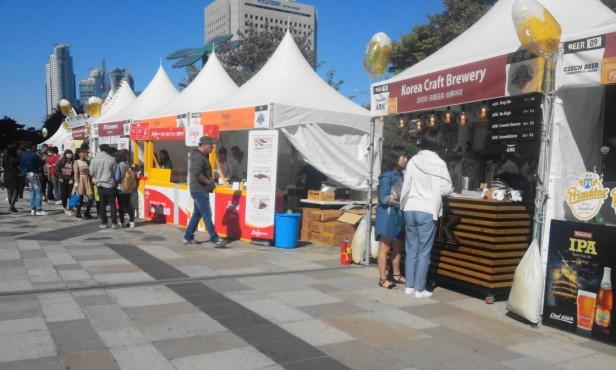 Great Korean Beer Festival 2015 booths