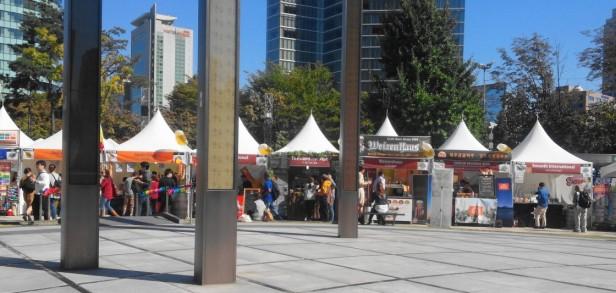Great Korean Beer Festival 2015 tents