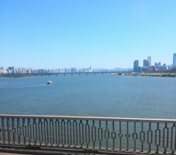 Han River from Seoul Subway Line 2
