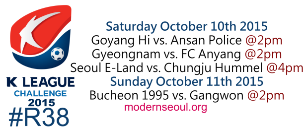K League Challenge 2015 Round 38 October 10th 11th